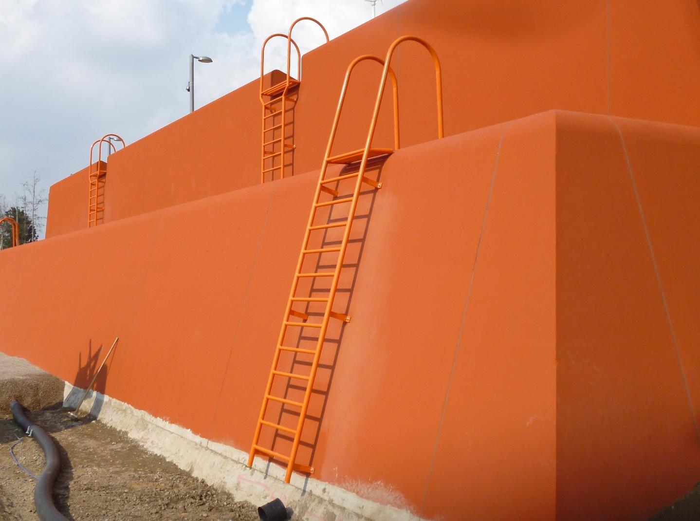 Climbing wall ladders